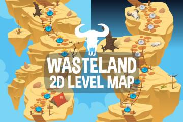 Wasteland Level Map 2D Backgrounds