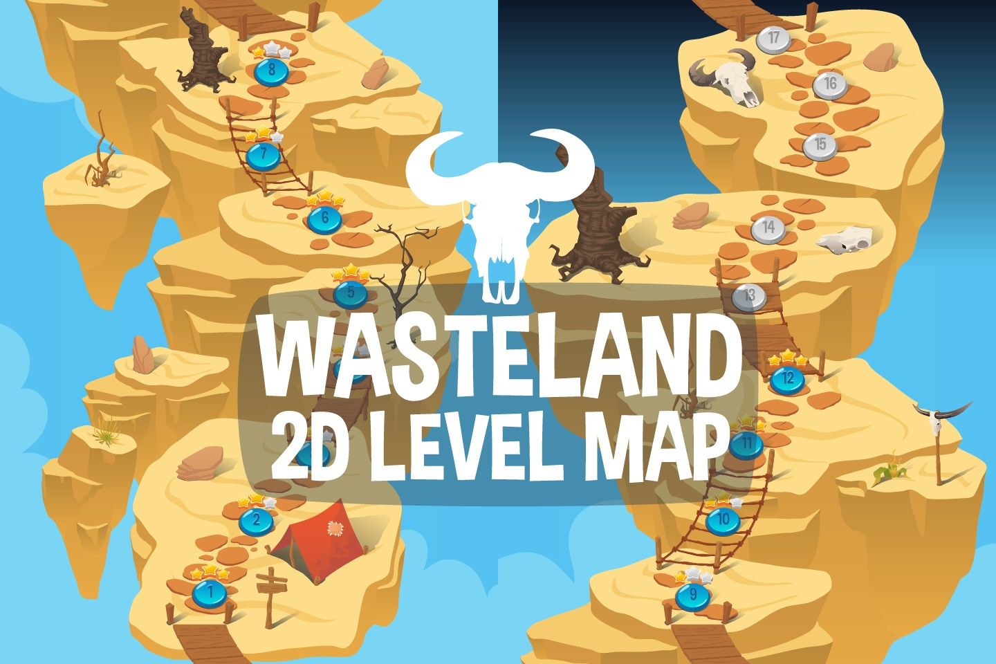 Wasteland Level Map 2D Backgrounds