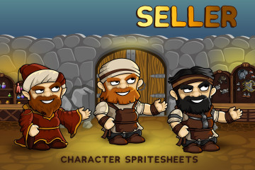2D Fantasy Seller Free Character Sprite