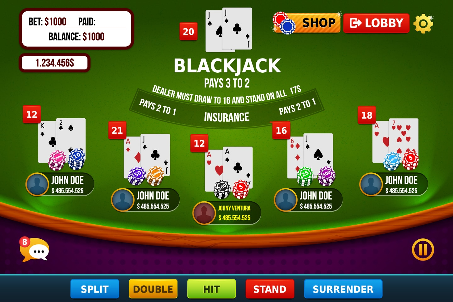 Blachjack Game