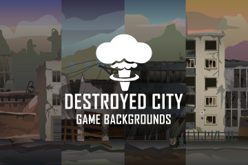 Destroyed City Parallax Backgrounds