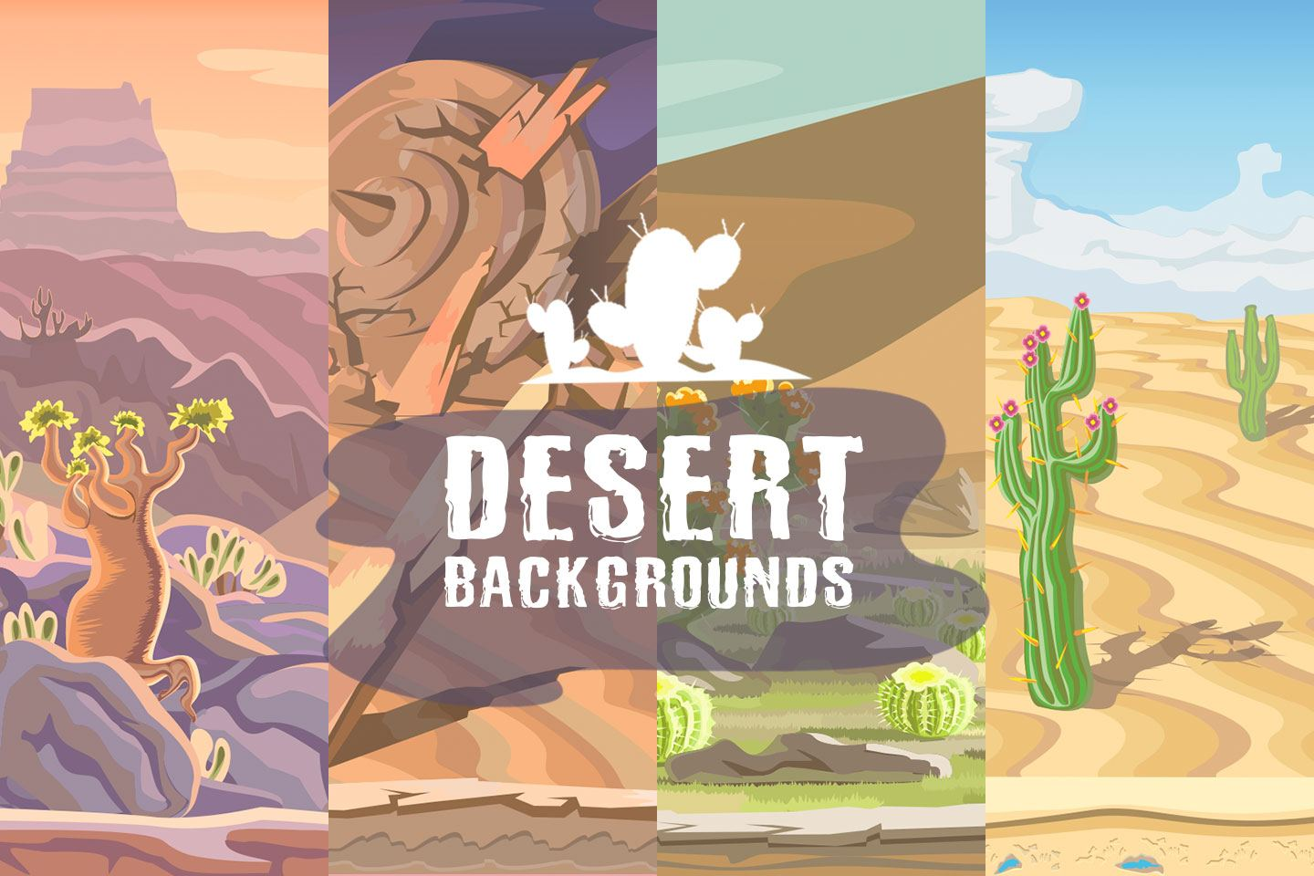 Free Desert Scrolling 2D Game Backgrounds
