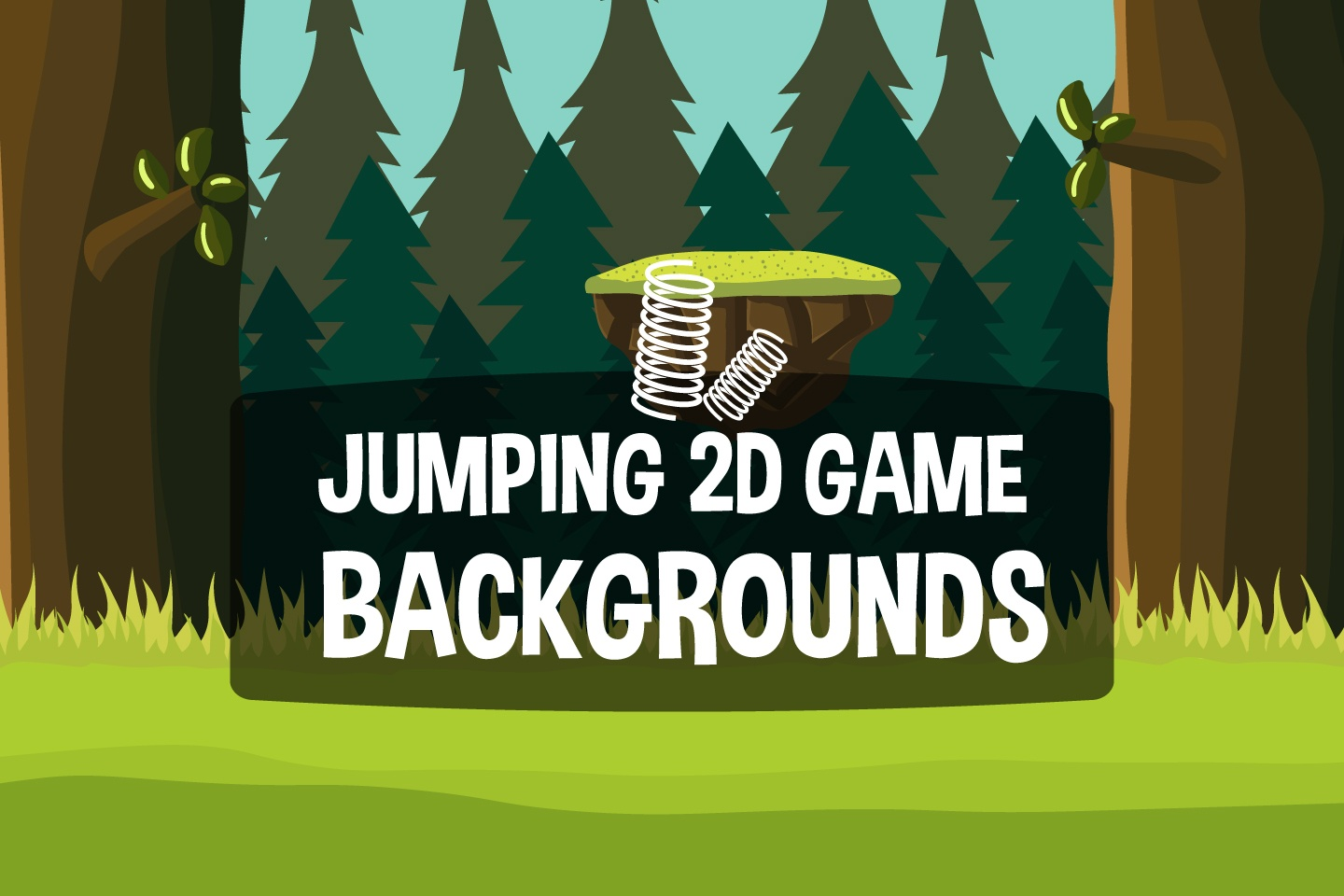 Vertical Jumping Game Backgrounds