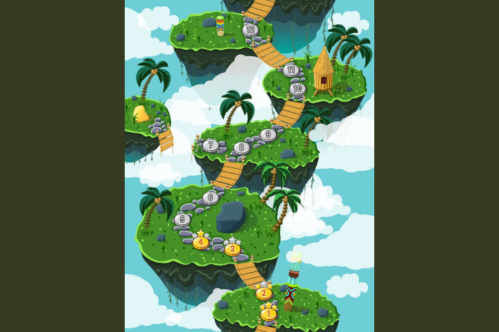 Jungle-Game-Level-Map-Backgrounds