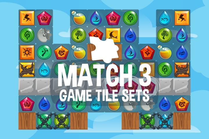 Match-3-Game-Tile-Sets