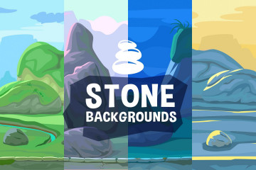 Stone Scrolling 2D Game Backgrounds