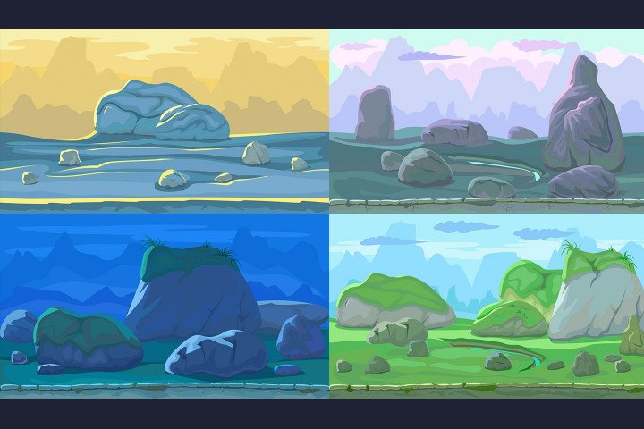 Stone-Scrolling-2D-Game-Backgrounds