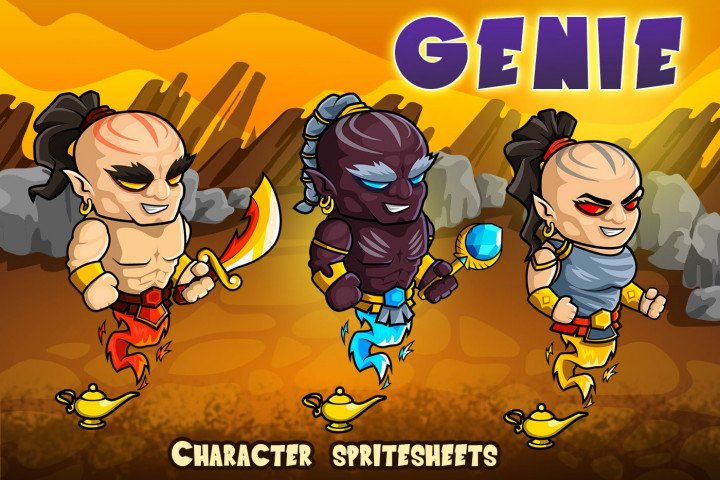 2D-Fantasy-Genie-Character-Sprites