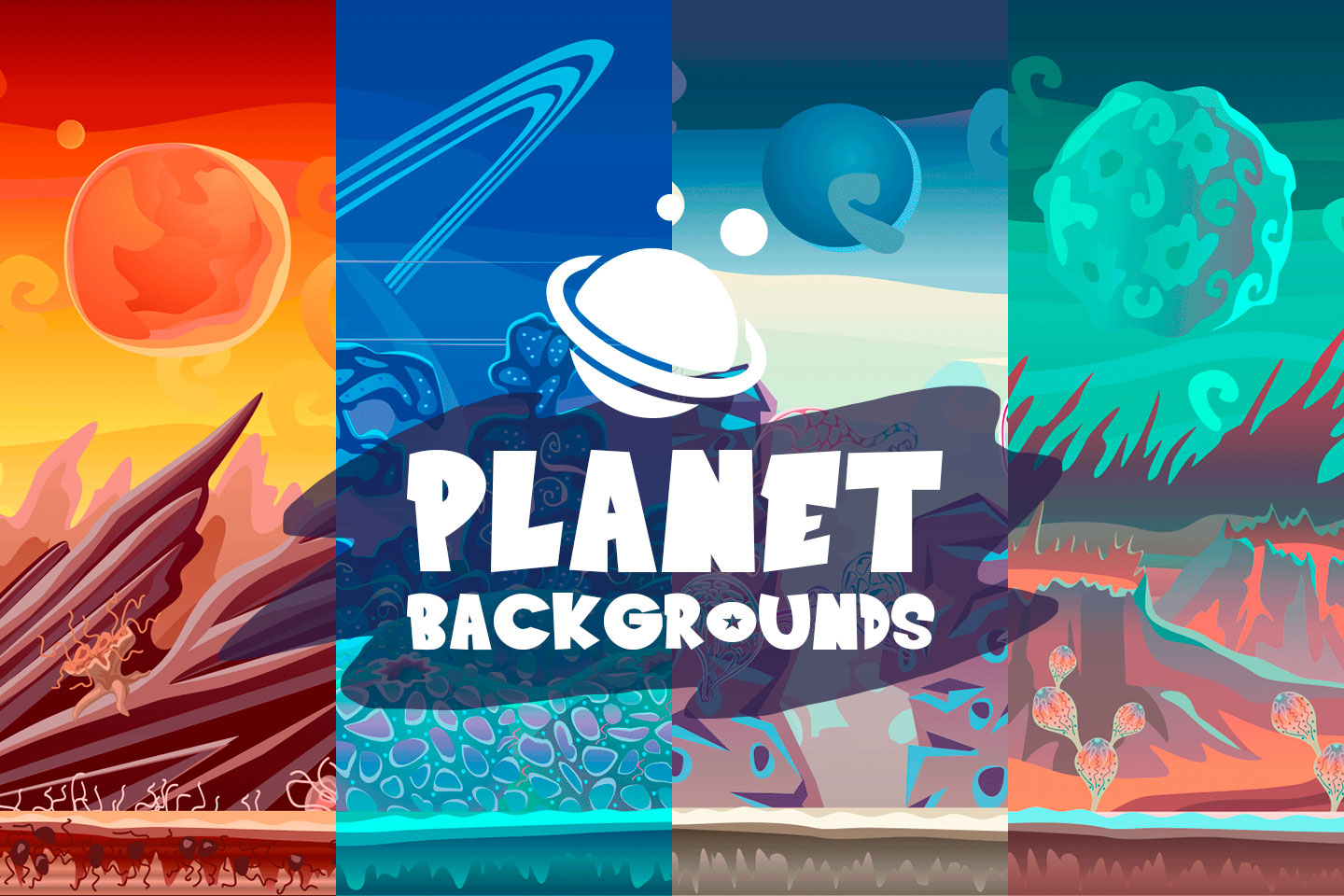 2D Planet Game Backgrounds
