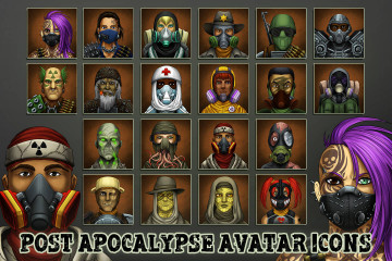 Post-Apocalypse Avatar Icons