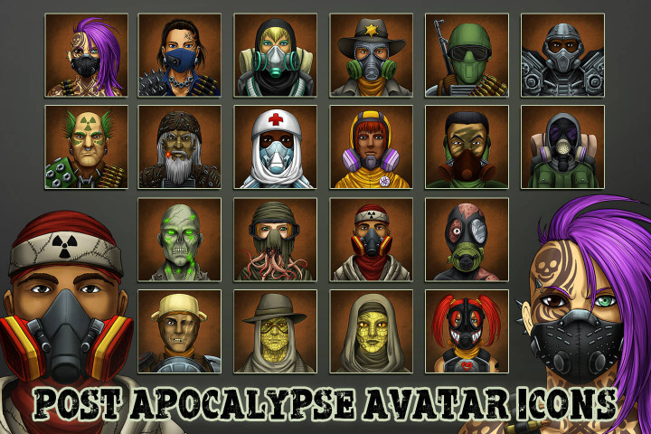 Post-Apocalypse-Avatar-Icons