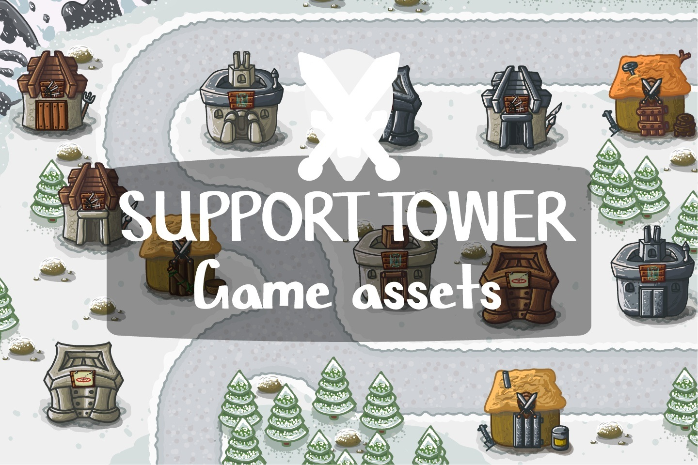 Support Tower Game Assets