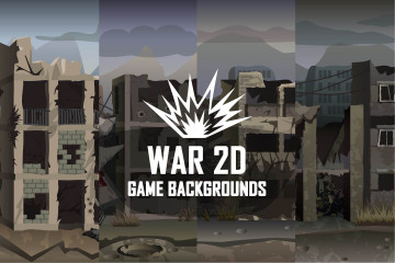 War 2D Game Backgrounds