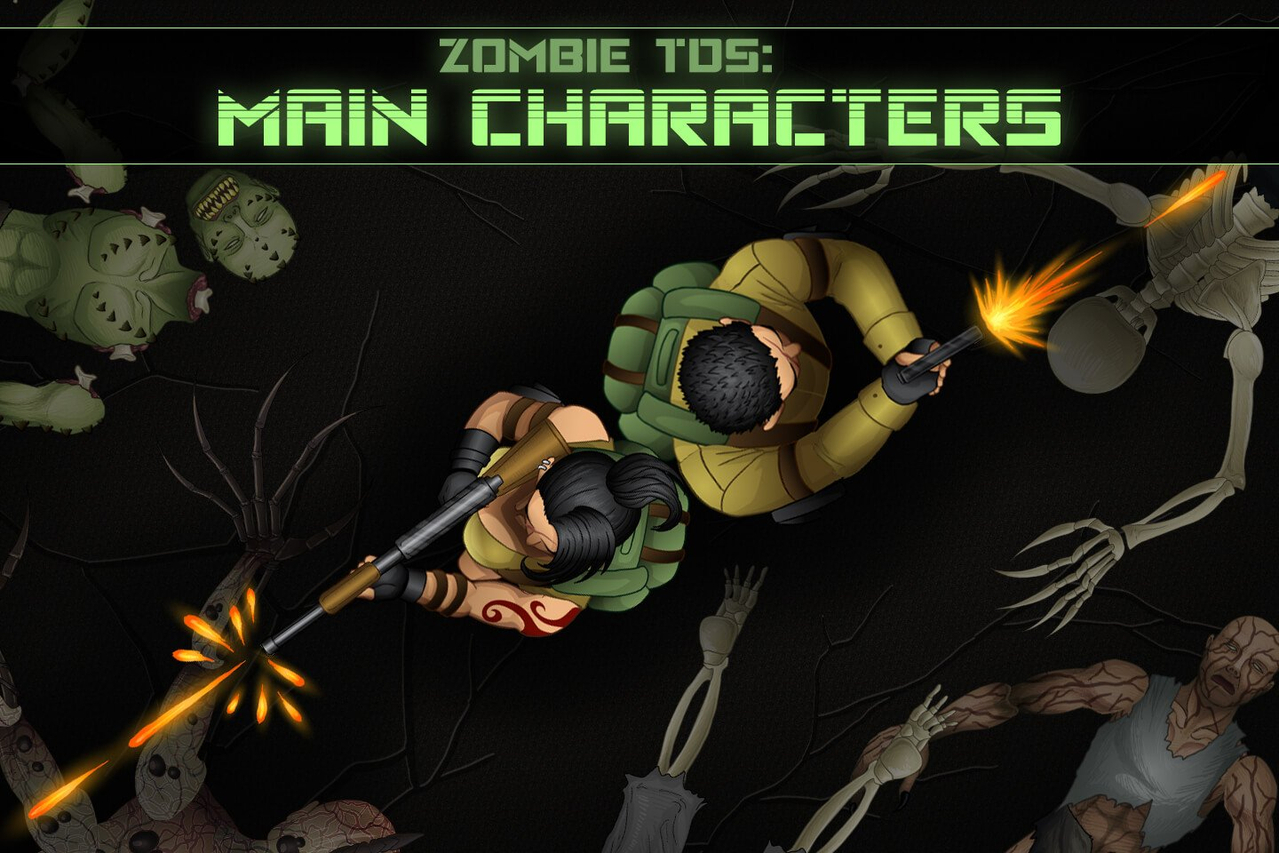 Zombie TDS: Main Characters