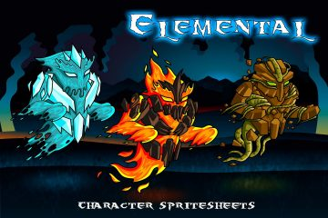2D Fantasy Elemental Character Sprites