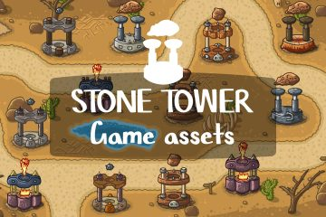 Free Stone Tower Game Assets
