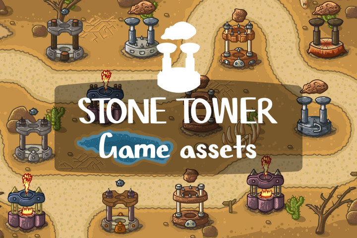 Free-Stone-Tower-Game-Assets