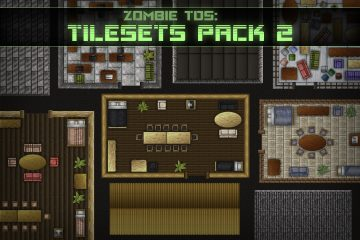 Free Zombie TDS Tilesets: buildings and furniture
