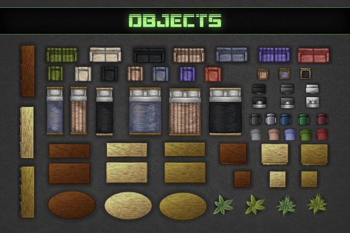Free Zombie Tds Tilesets Buildings And Furniture