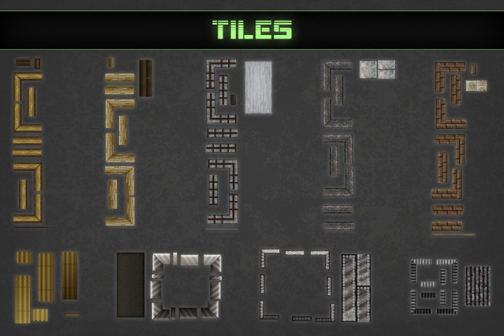 Free-Zombie-TDS-Tilesets-buildings-and-furniture