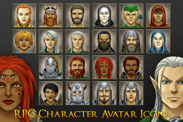 RPG Character Avatar Icons