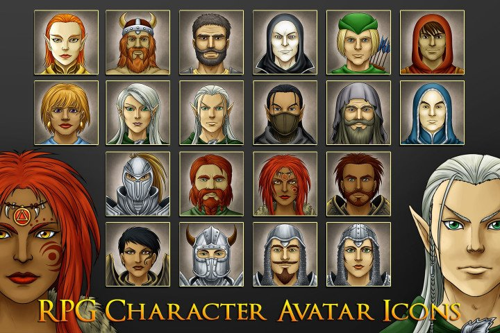 RPG-Character-Avatar-Icons