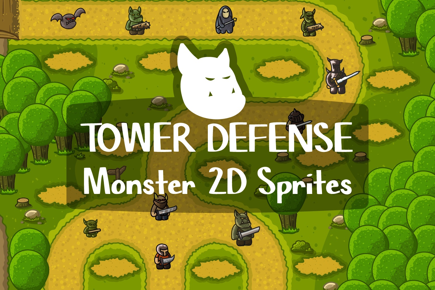 Tower Defense Monster 2D Sprites