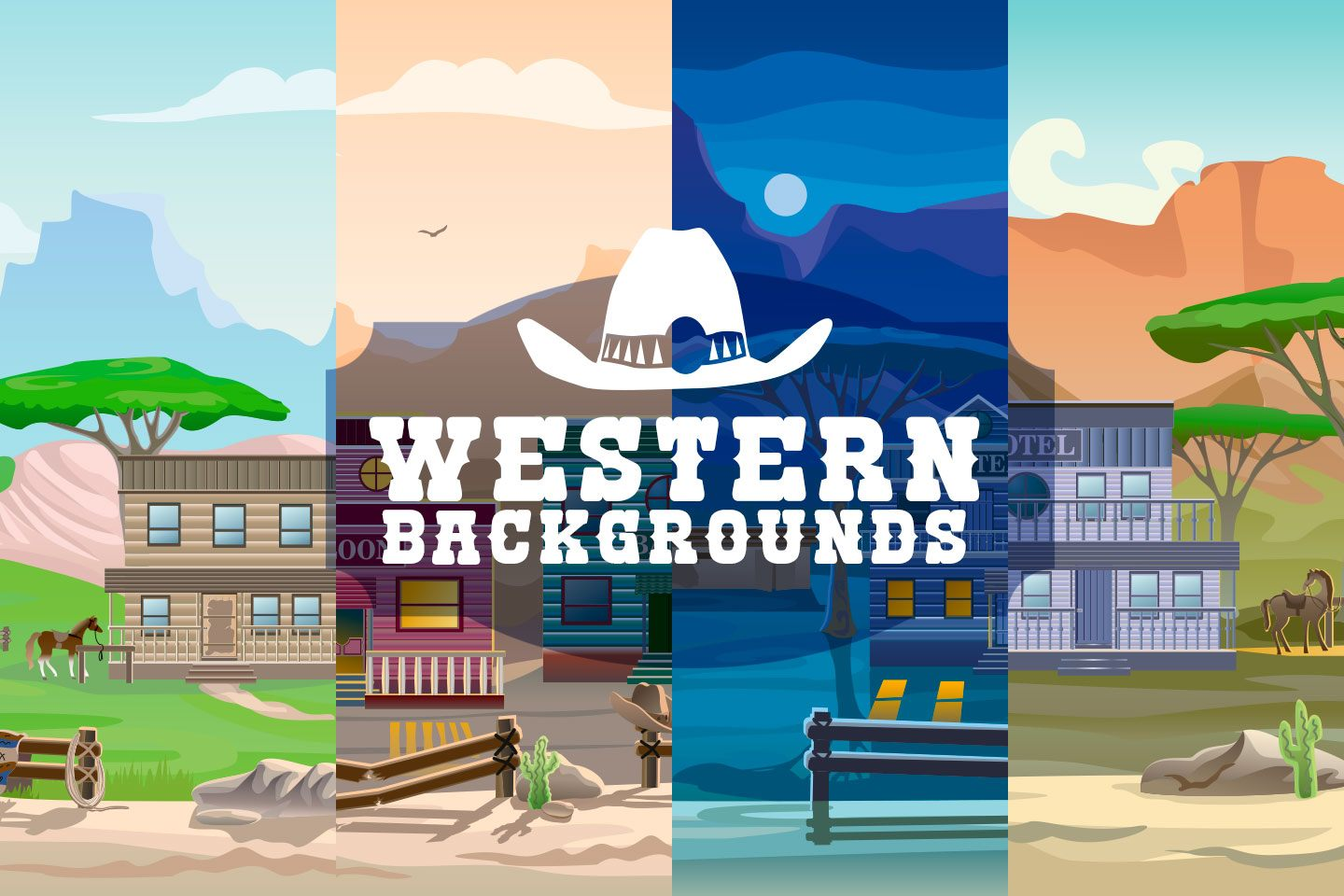 Western 2D Game Backgrounds