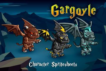 2D Fantasy Gargoyle Character Sprites