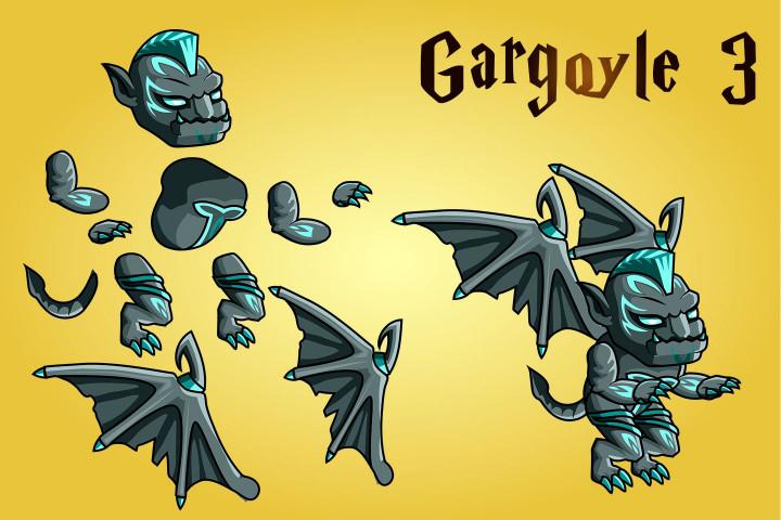 2D-Fantasy-Gargoyle-Character-Sprites