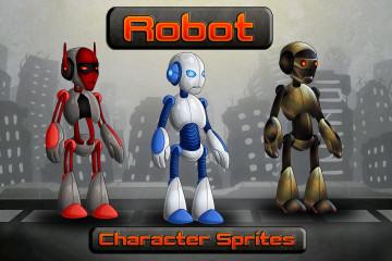 2D Robot Character Sprites
