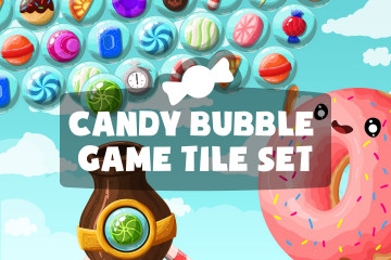 Candy Bubble Game Tile Set