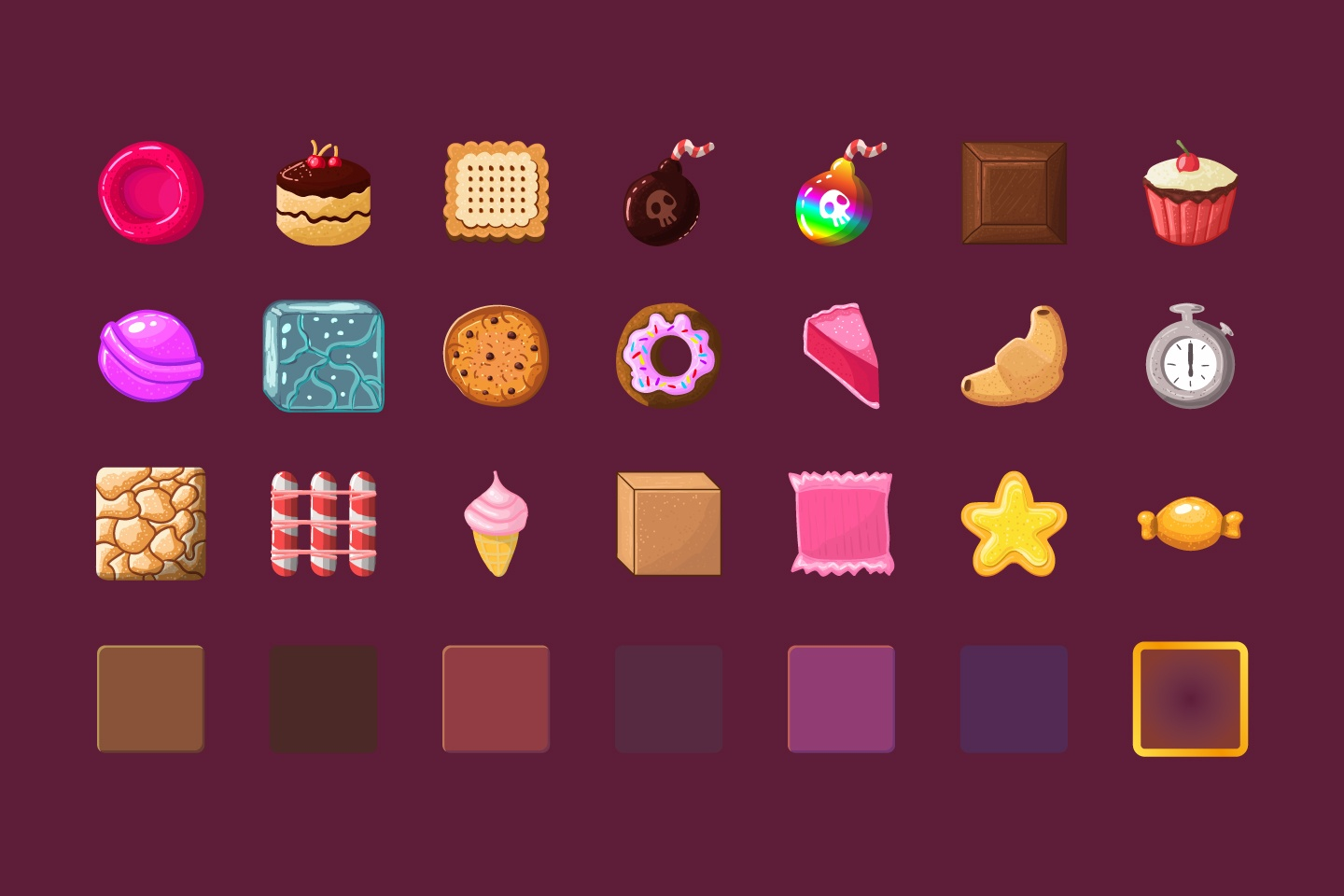 free candy match 3 game items craftpixnet