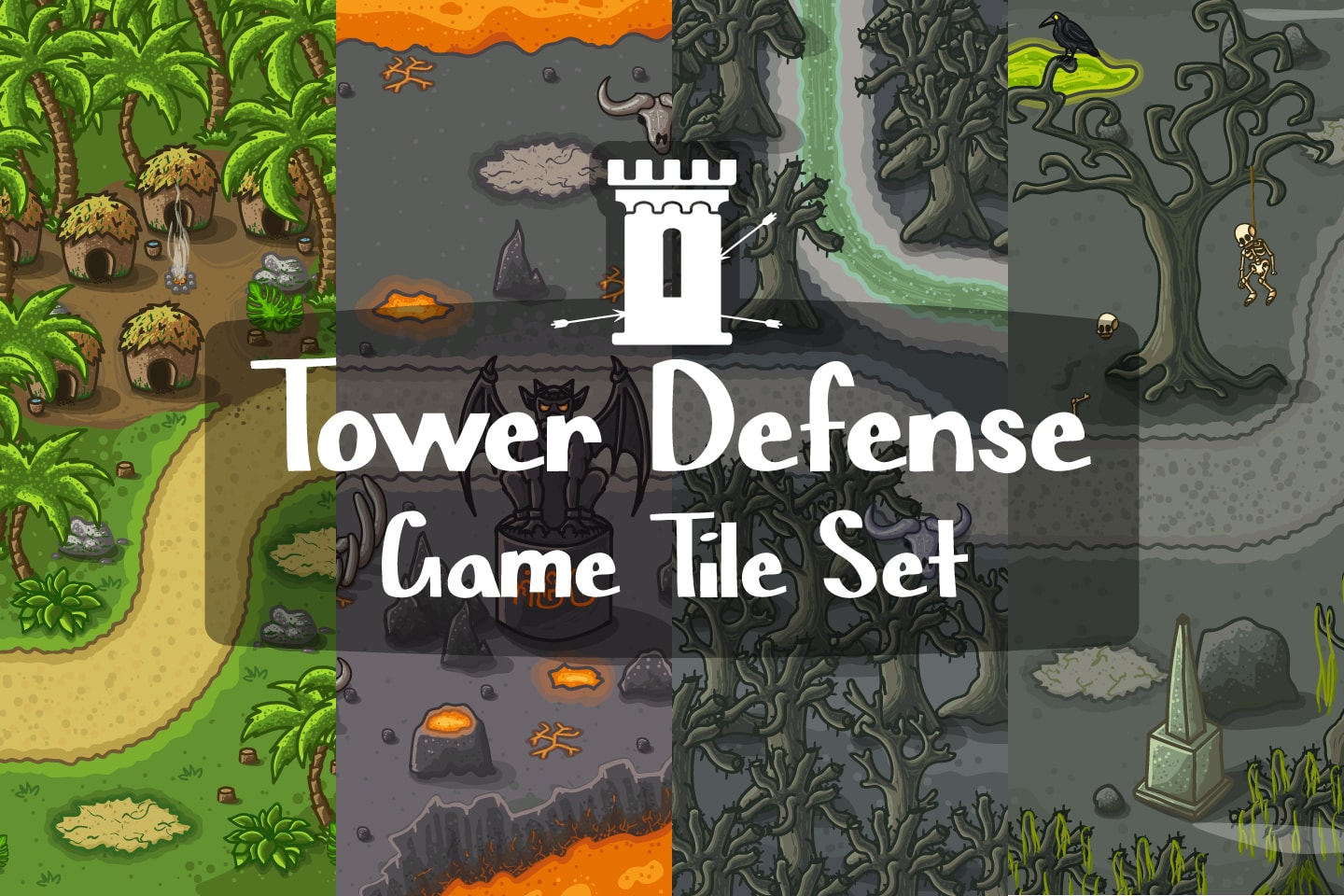 Tower Defense Game Tile Set Pack 2