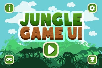 Free Jungle Cartoon 2D Game UI