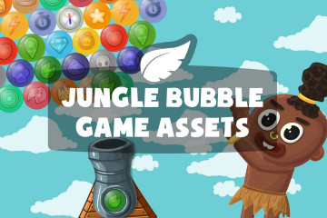 Jungle Bubble Game Assets