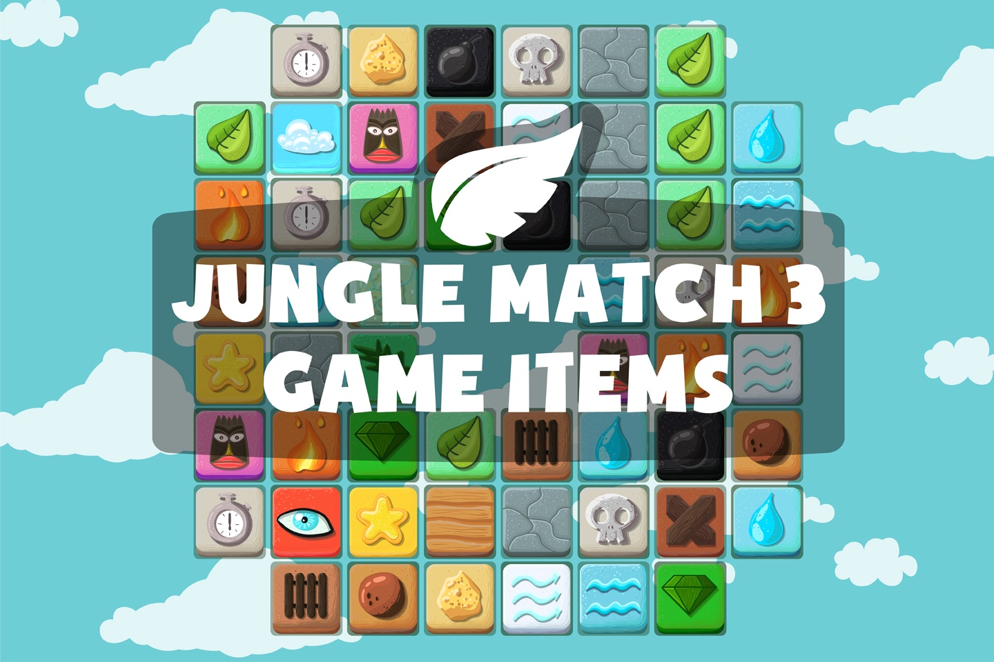 Jungle Match 3 Game Items