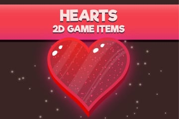 Love Hearts 2D Game Items