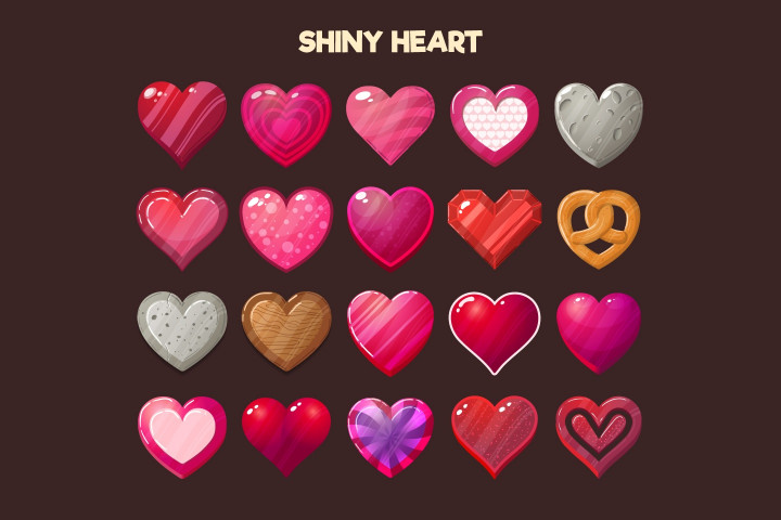 Love-Hearts-2D-Game-Items