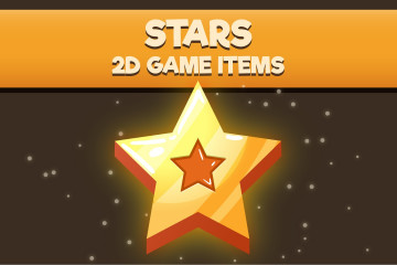 Stars 2D Game Items