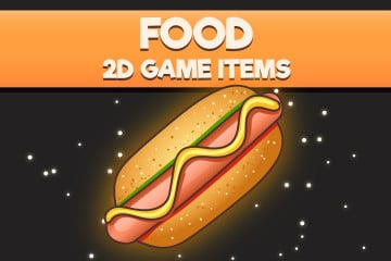 Food 2D Game Items