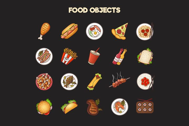 Food-2D-Game-Items