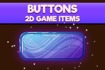 Free Buttons 2D Game Objects
