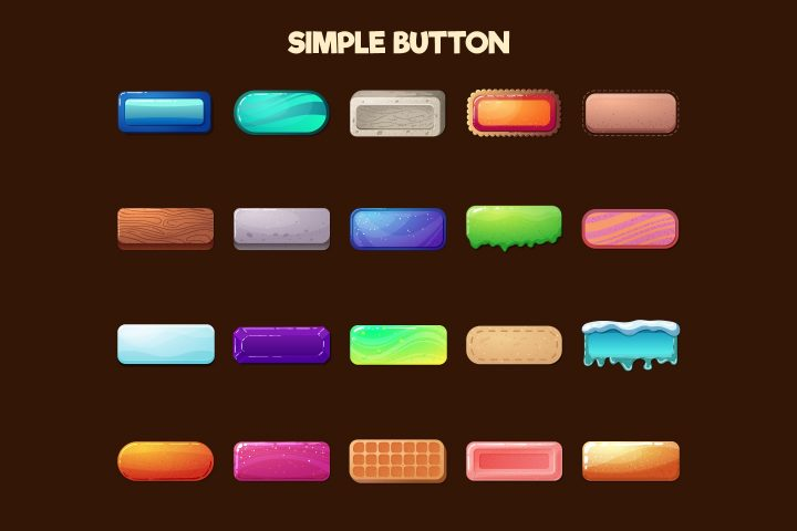 Free-Buttons-2D-Game-Objects