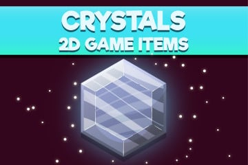 Free Crystals 2D Game Items