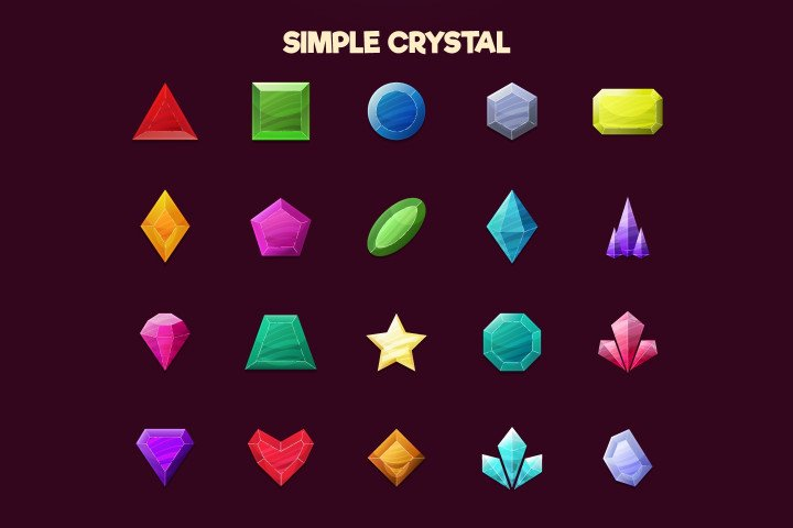 Free-Crystals-2D-Game-Items