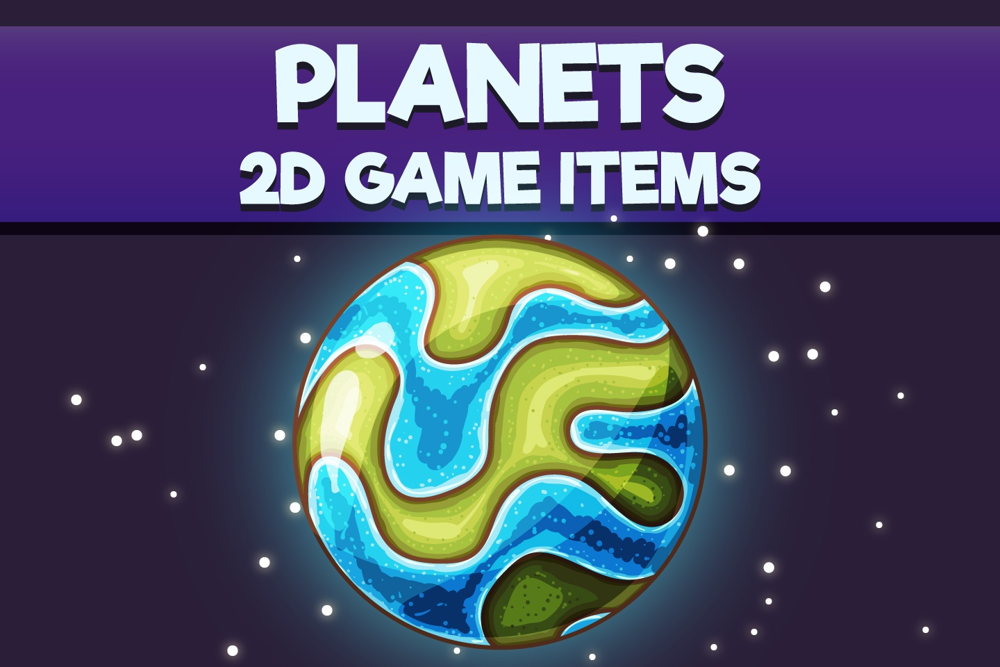 Planets 2D Game Objects