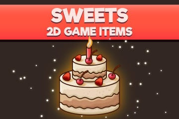 Sweets 2D Game Items