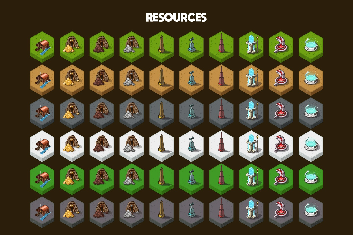 Buildings for 2D Fantasy Strategy