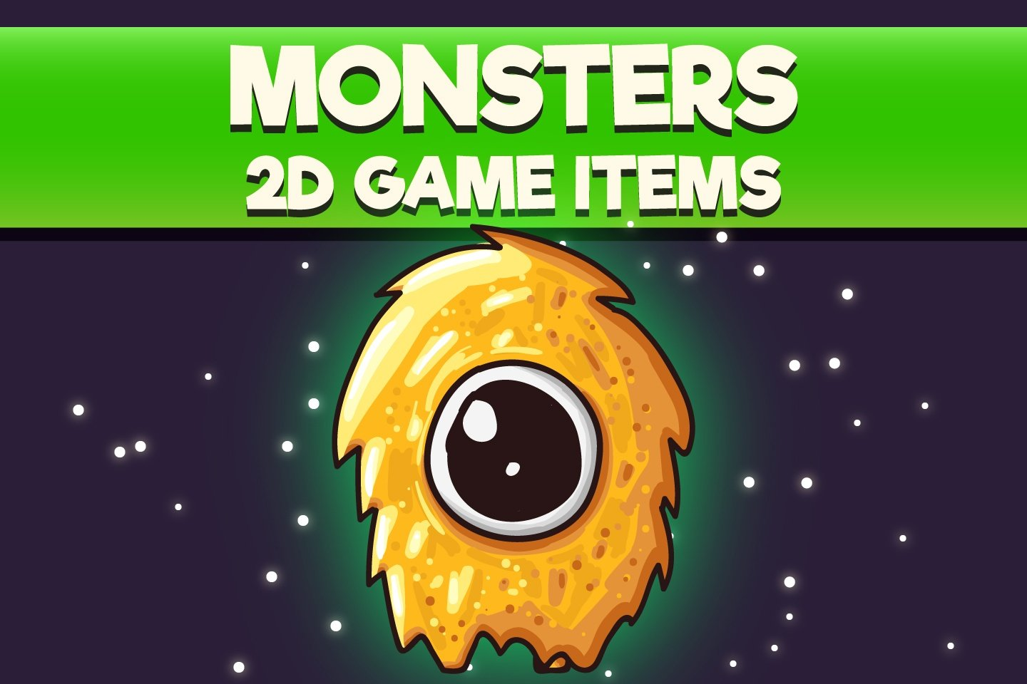 Free Monster 2D Game Items